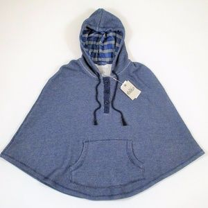 New Nike Hooded Cape Sweatshirt Hoodie O/SBlue